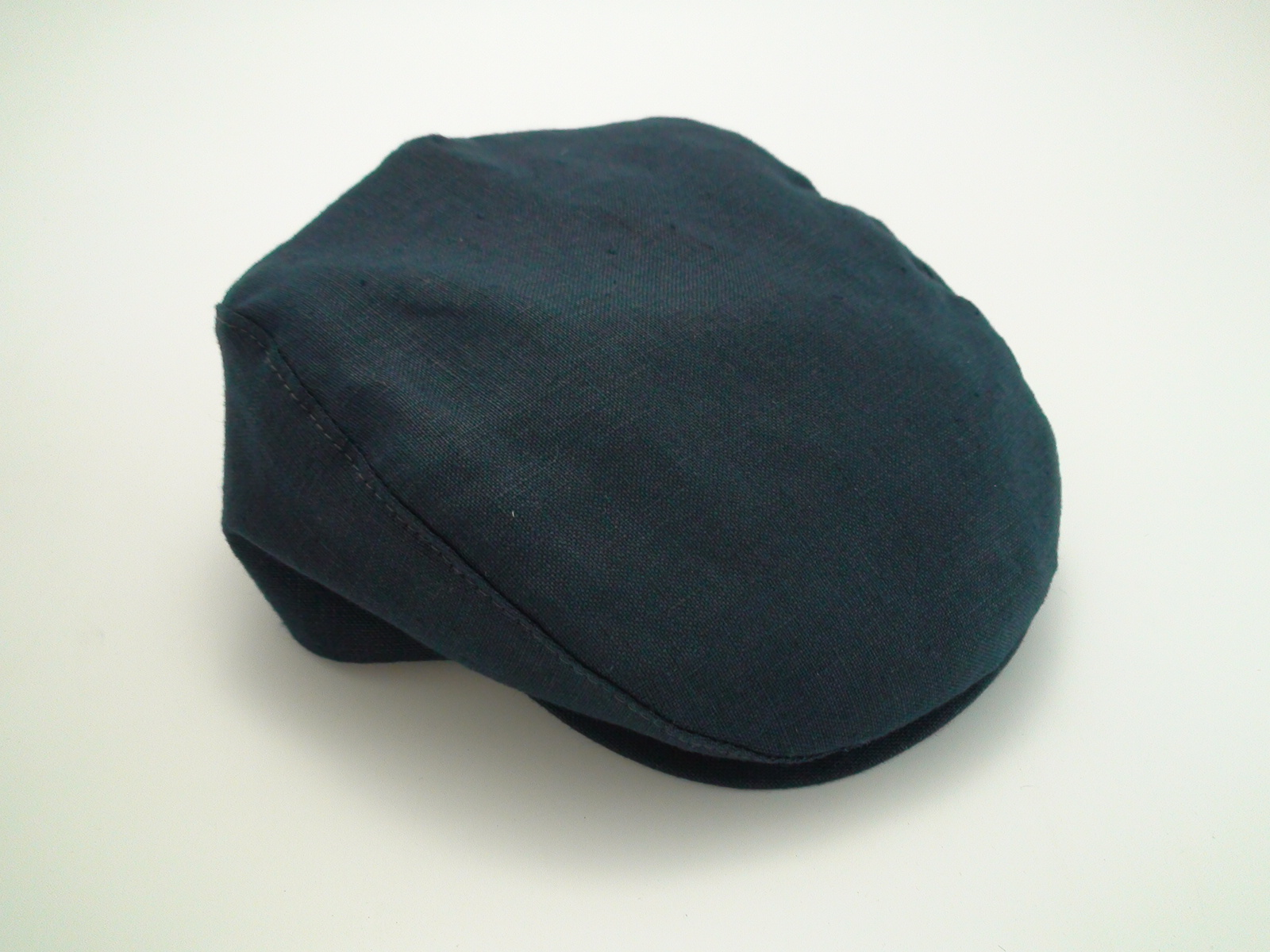 5f7bdb1dd624b Capas Ivy 100% Linen Navy Blue Golf Newsboy Flat Cap