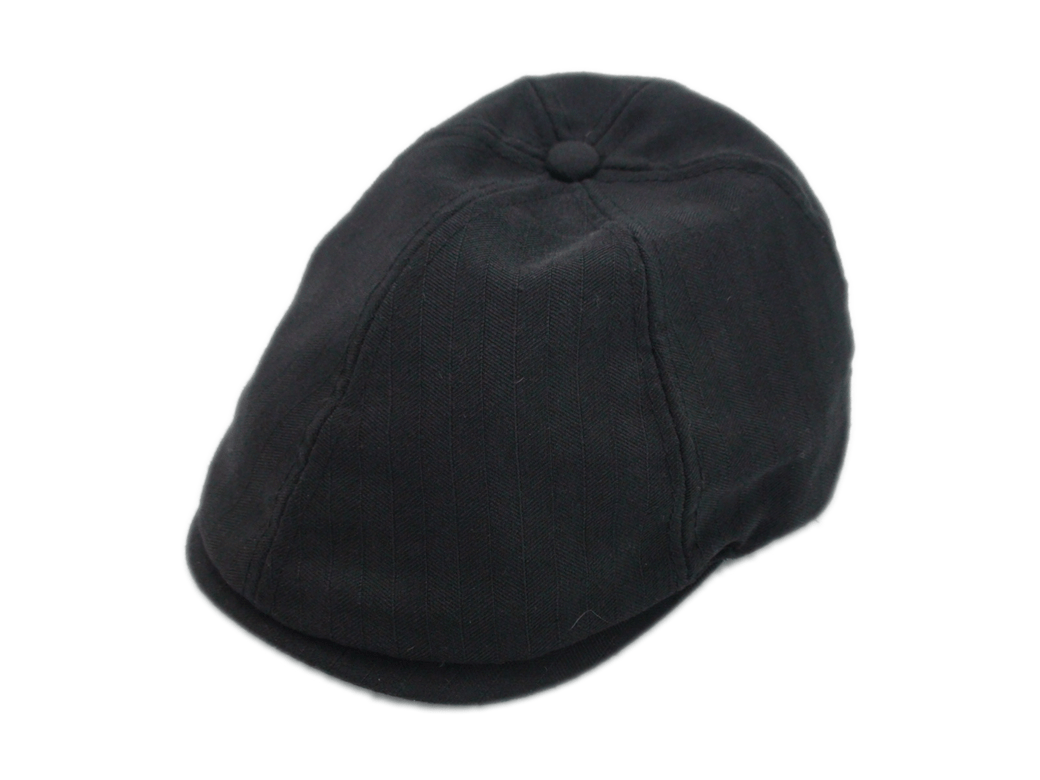 NEW Stetson Ivy Black Polyester Jacquard Lining Driving Flat Cap Size Large b501868b12ee