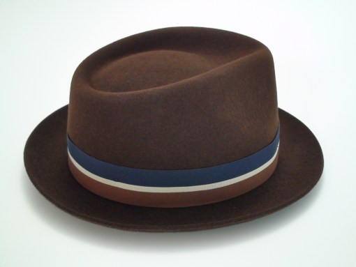 Christys Crown Brown Fine Fur Felt Stingy Brim Fedora Hat