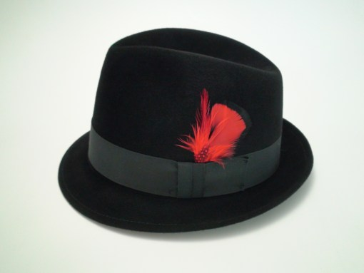 Biltmore Hats Royal Black Fine Fur Felt Trilby Fedora Hat