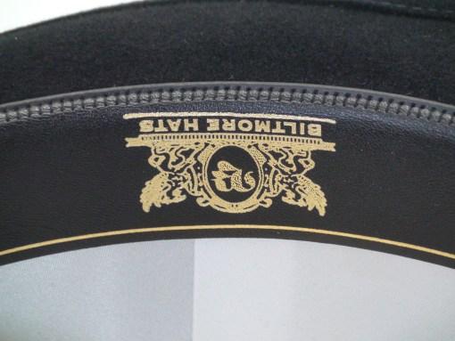 Biltmore Hats Royal Black Fine Fur Felt Trilby Fedora Hat