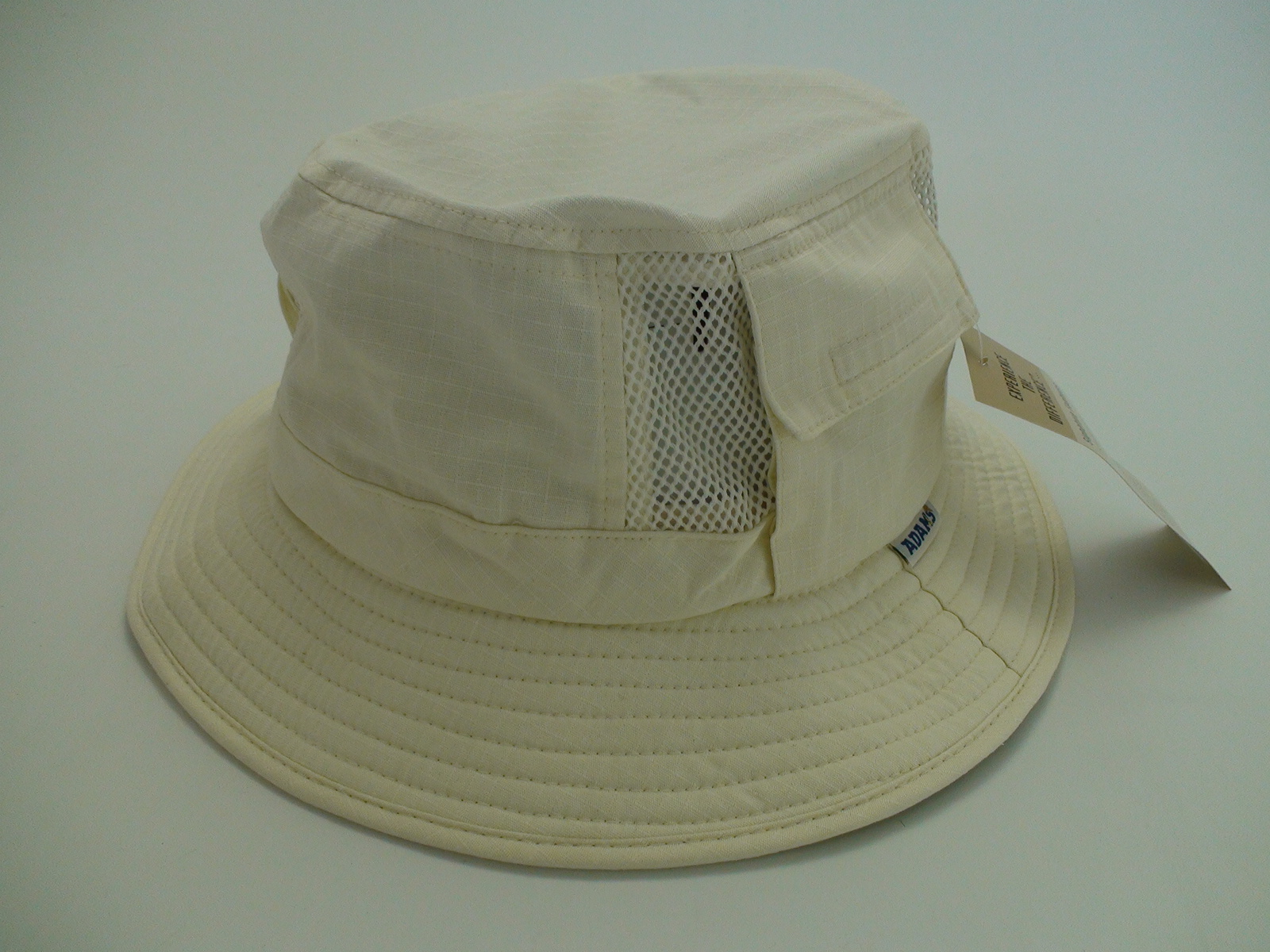 dd78efa8e79 Adams Ivory 100% Cotton Vented Outdoor Fishing Bucket Hat