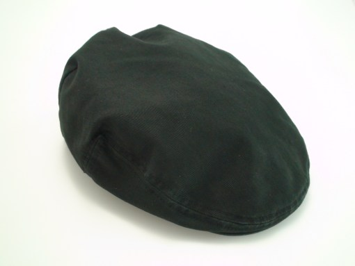 Scala Classico Twill Ivy Black 100% Cotton Newsboy Flat Cap