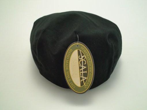 Scala Classico Twill Ivy Black 100% Cotton Newsboy Flat Cap
