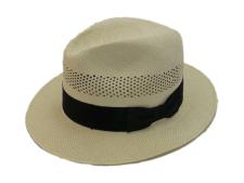 Biltmore Hats Straw Panama Natural Genuine Shantung Fedora Hat
