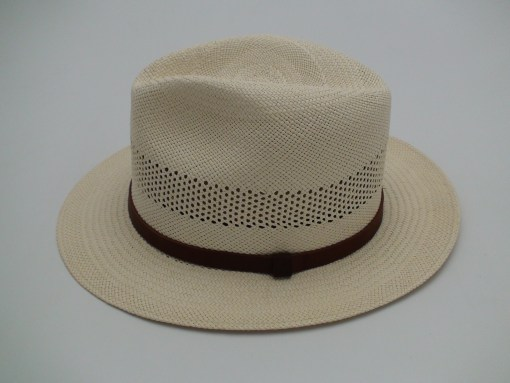 Biltmore Hats Panama Genuine Shantung Natural Straw Fedora Hat