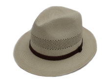 Biltmore Hats Panama Genuine Shantung Natural Straw Fedora Hat