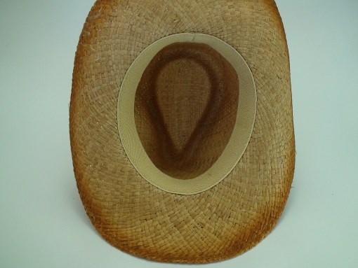Western Straw Cowboy Hat with Turquoise Leather Hat Band