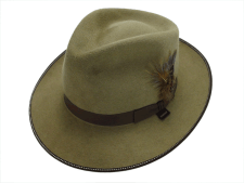 Stetson Brewster Buck Brown Fur Felt Fedora Hat