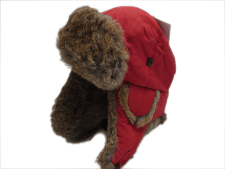 Woolrich Supplex Nylon Red Aviator Trapper Winter Hat