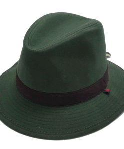 Woolrich Waxed Cotton Safari Moss Green Outdoor Hat