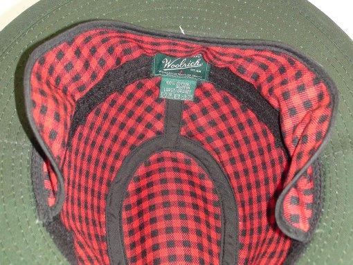 Woolrich Waxed Cotton Safari Moss Green Outdoor Hat