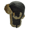 Wigens Lindberg Brown Leather Aviator Trapper Winter Hat
