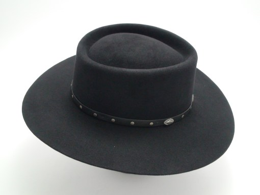 Beaver Brand Hats Black 5X Genuine Fur Felt Cowboy Hat