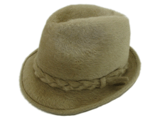 Biltmore Hats Canadian Club Ivory Beaver Fur Felt Fedora Hat