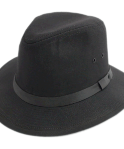 TLS Classic United Hatters Black Cotton Safari Outdoor Hat