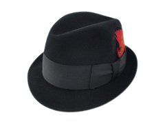 Adam Hats Premier Black Fur Felt Fedora Hat