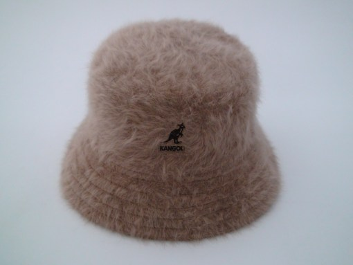 Kangol Furgora Lahinch Brown Angora Blend Bucket Hat