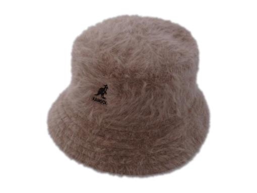 Kangol Furgora Lahinch Brown Angora Blend Bucket Hat
