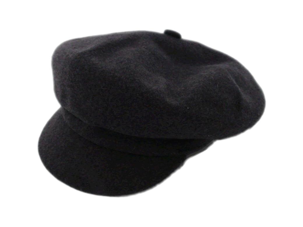 91edb172ae4 NEW Kangol Spitfire Dark Grey Wool Newsboy Flat Cap Size M