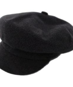 Kangol Spitfire Dark Grey Wool Newsboy Flat Cap