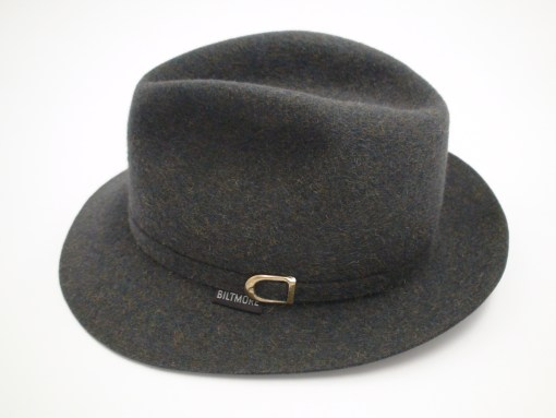 Royal Biltmore Traveler Grey Wool Felt Fedora Hat