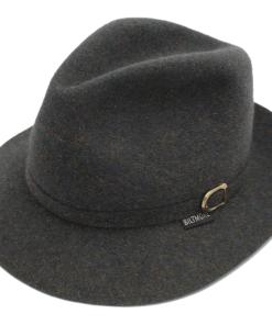Royal Biltmore Traveller Grey Wool Felt Fedora Hat