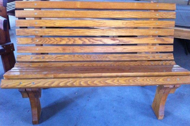 Panchina in legno massello