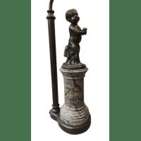 Art Nouveau Marble & Bronze Figural Lamp
