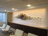 Glass Wall Sculpture Installation | Bernard Katz Glass