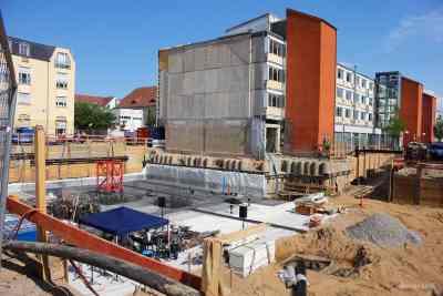 Grundsteinlegung für das neue Rathaus in Bernau bei Berlin
