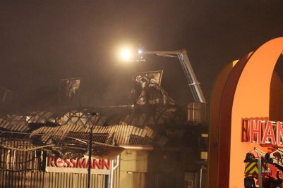 Großfeuer im Handelscentrum Strausberg