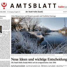 Der Jahresrückblick für die Stadt Halle (2013 bis 2016)