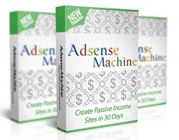 Mockup cover of AdSense Machine on three boxes