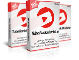 Mockup cover of Tube Rank Machine on three boxes