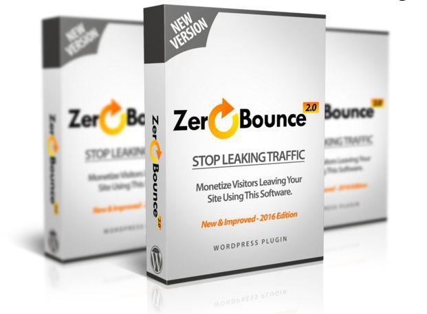Mockup cover of WP Zero Bounce on three boxes