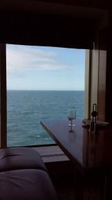 Blick aus dem Restaurant.