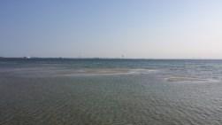 Schemenhaft am rechts am Horizont: Die Øresundbrücke.