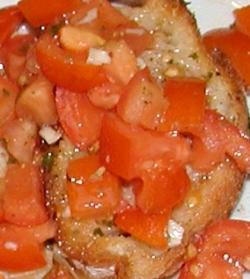 Bruschetta met frisse tomatensalsa