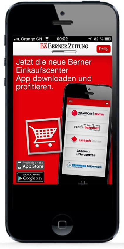 Bewerbung iPhone-App BZ Berner Zeitung