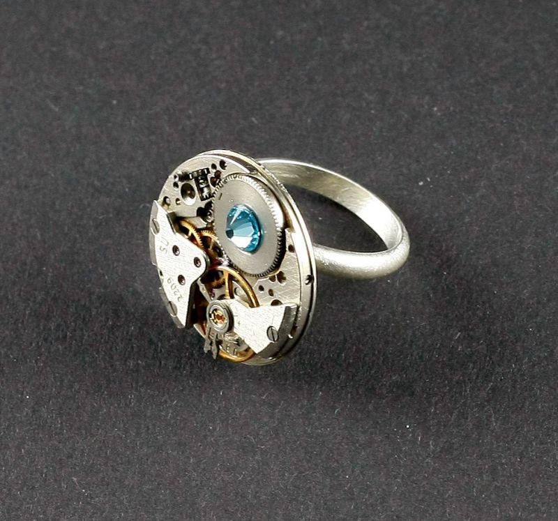 Ring Silber 925 mit Trkis Blau  Bernhardt Style
