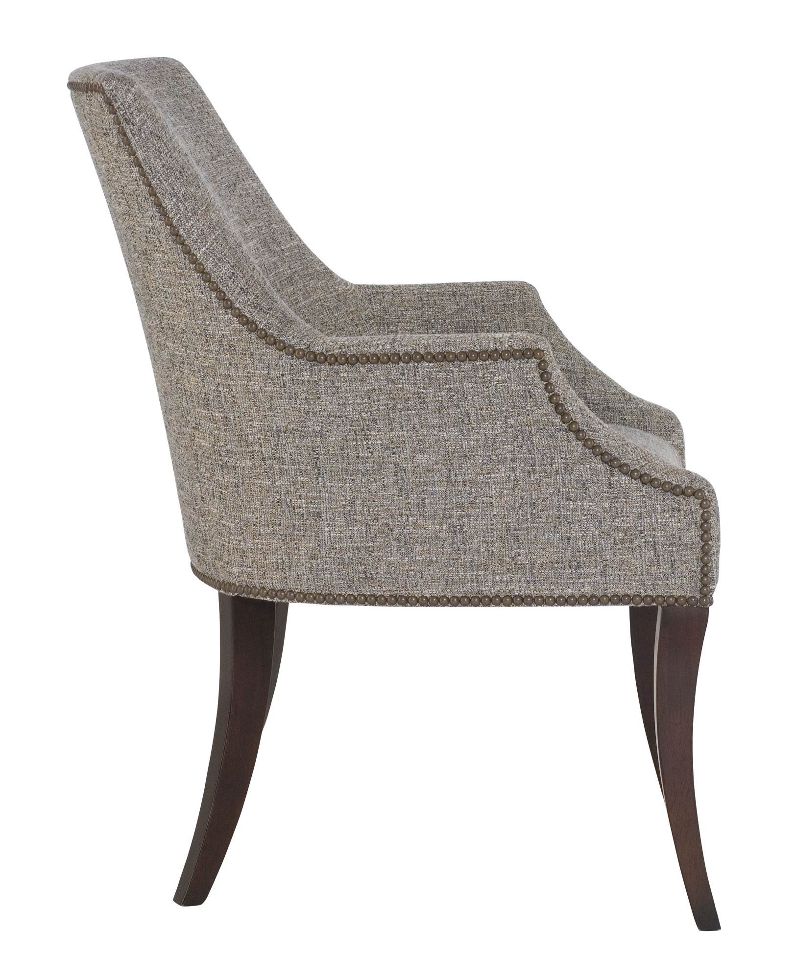 upholstered chair with nailhead trim sofa and covers australia dining | bernhardt