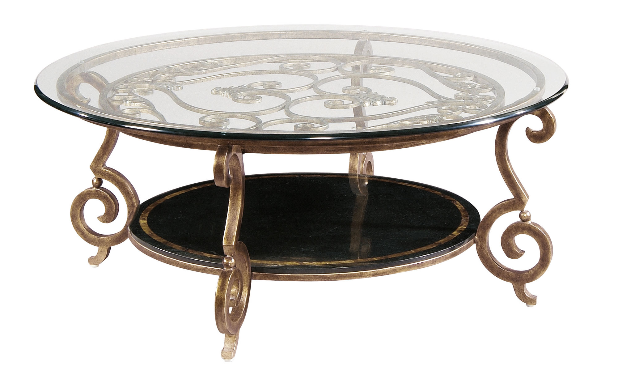 Round Cocktail Table Base And Glass Top