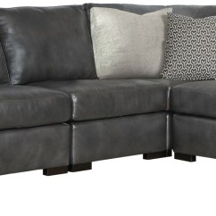 Sofa Nailhead Real Leather Corner Bed With Storage Sectional | Bernhardt
