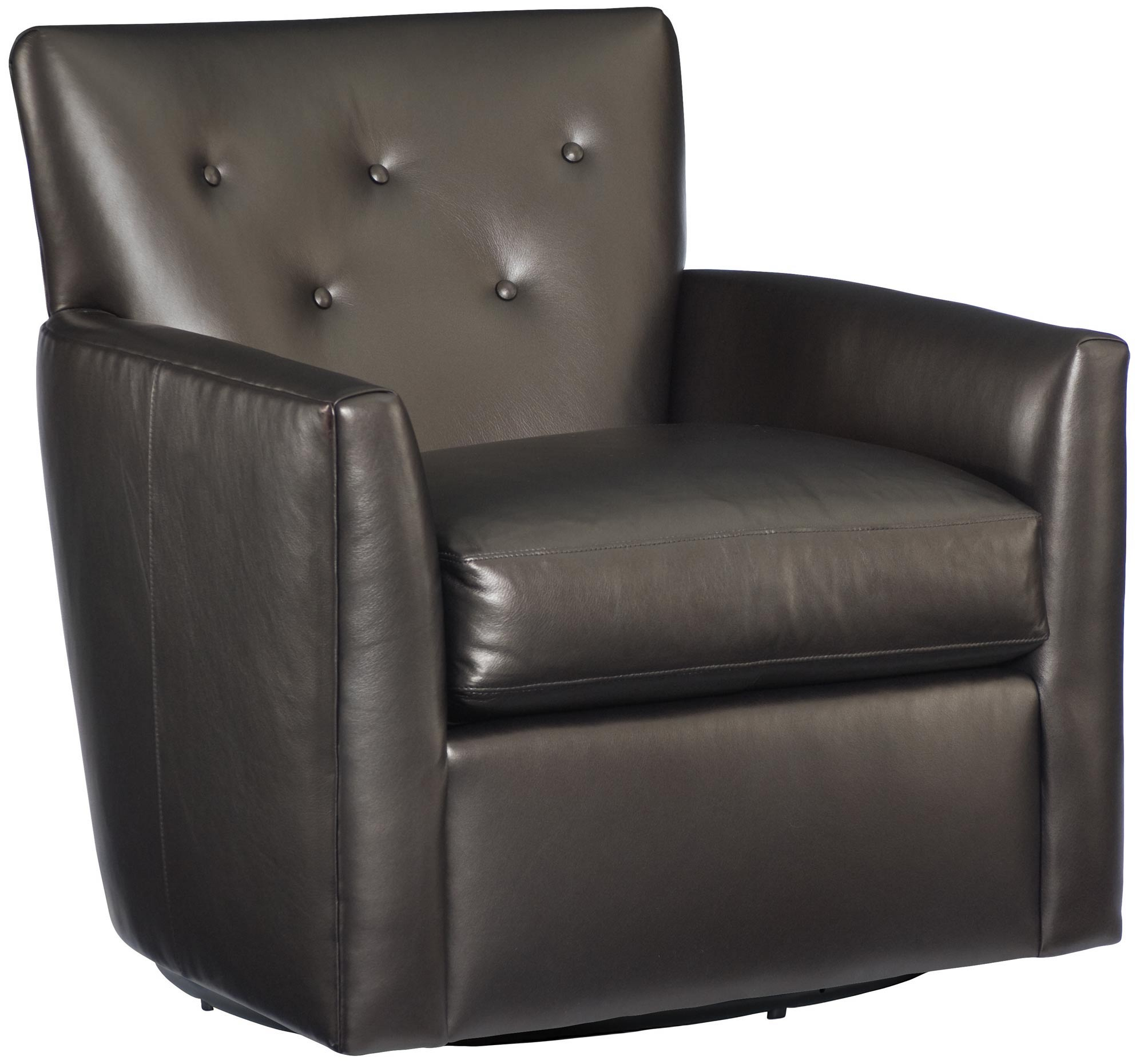 Bernhardt Leather Chair Swivel Chair Bernhardt
