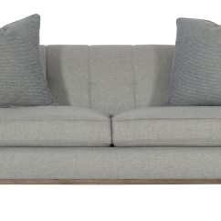 Bernhardt Sofa Leather And Fabric Sectional Sleeper