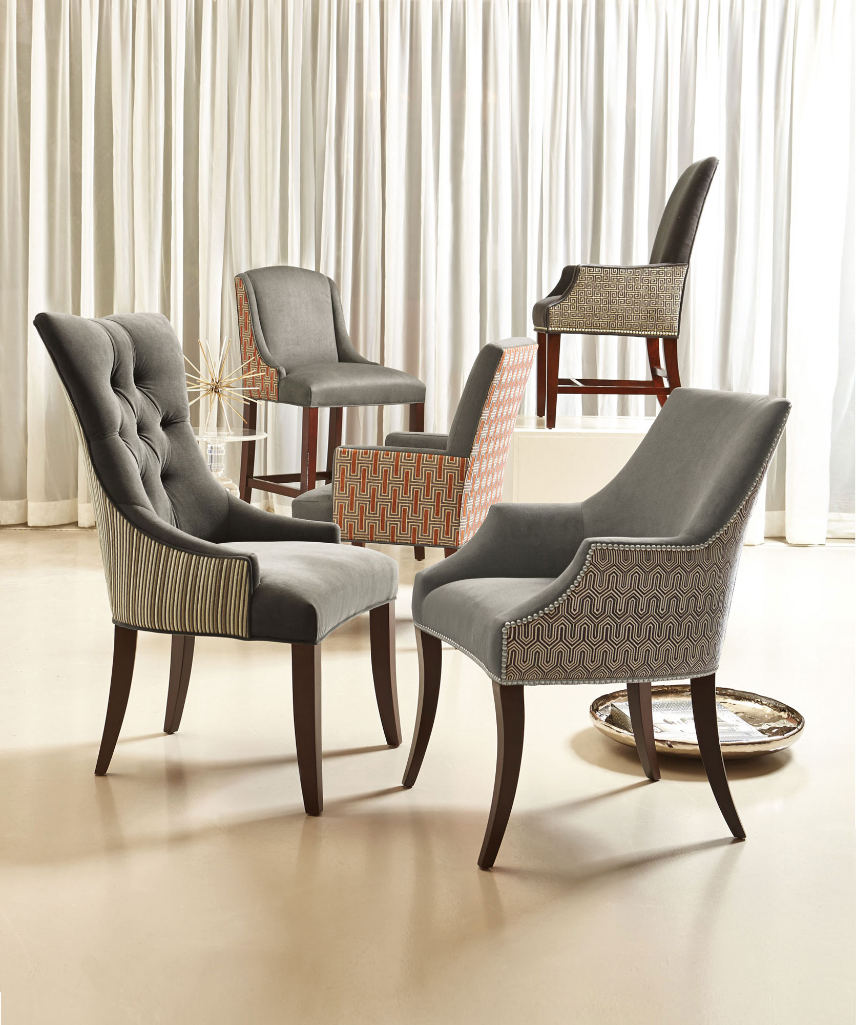 nailhead dining room chairs wheelchair puns astor deco hadden keeley slope | bernhardt