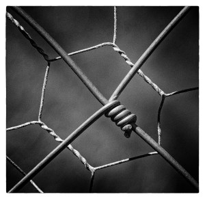 A piece of wire symbolising a trapped hand