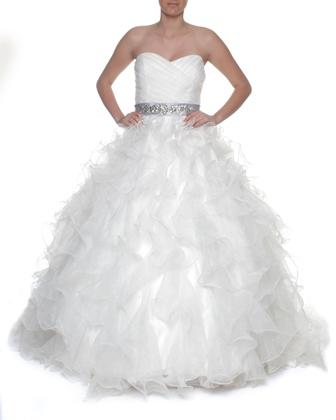 V8 Snow White Sweetheart Vera Wang Style Wedding Gown White S 8 10