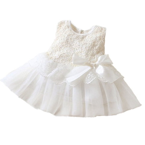 Babygirl Princess Flowergirl Dress - White